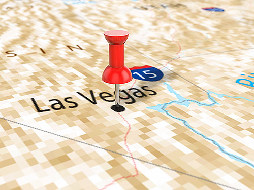 Map showing Las Vegas